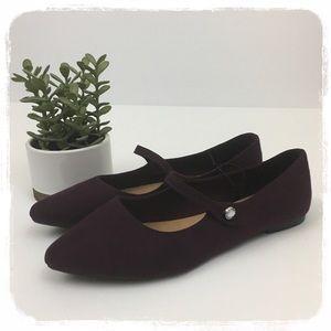 NWT GAP Purple Faux Suede Pointy Toe Flats sz. 9